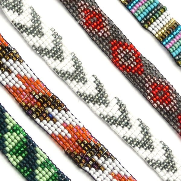 Lucia's World Emporium fair trade and hand beaded friendship bracelets in various colors from Guatemala