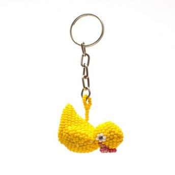 Beaded Duck Keychain