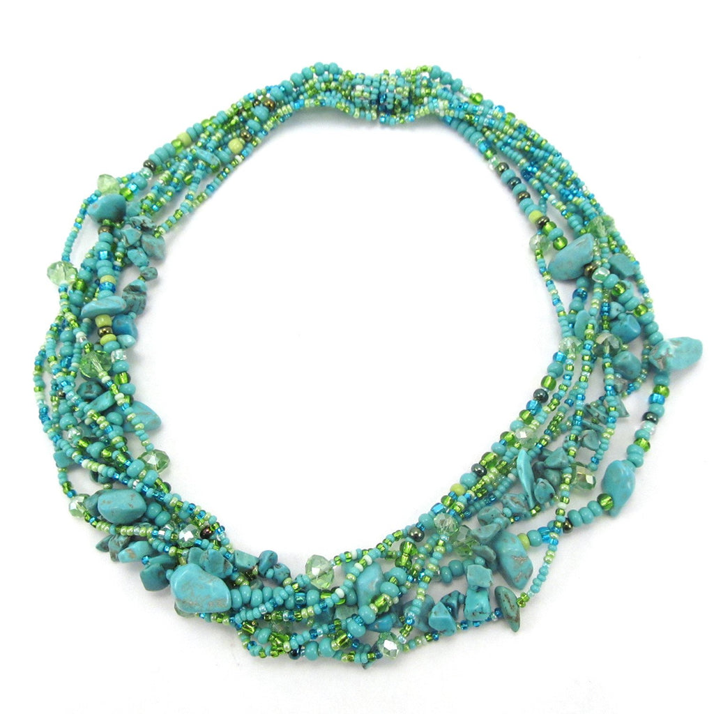 Lucia's World Emporium Fair Trade Handmade Rock Candy Necklace from Guatemala