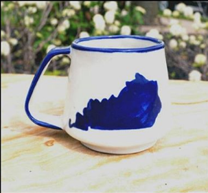 Lucia's World Emporium Fair Trade Handmade Ceramic Kentucky Mug from Guatemala