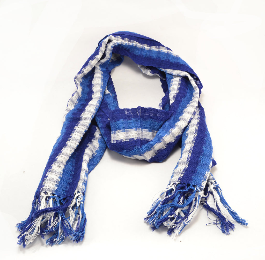 blue and white Kentucky scarf