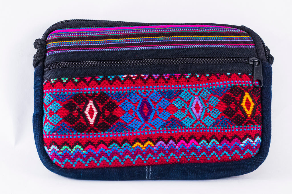 Lucia's World Emporium Fair Trade Handmade Guatemalan Oval Two Zipper Bag