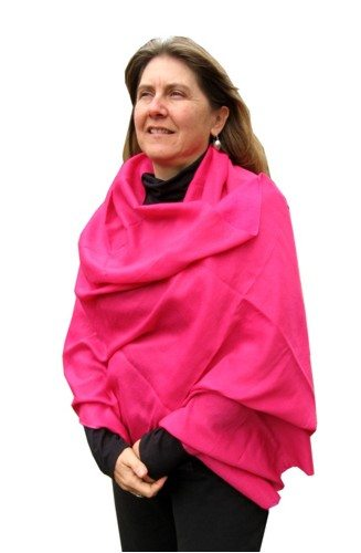 Luxurious water pashmina shawl with the feel of pashmina . 27″ x 80″