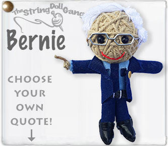 Lucia's World Emporium Fair Trade Handmade Bernie Sanders String Doll Keychain