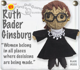 Lucia's World Emporium Fair Trade Handmade RBG string doll keychain from Thailand