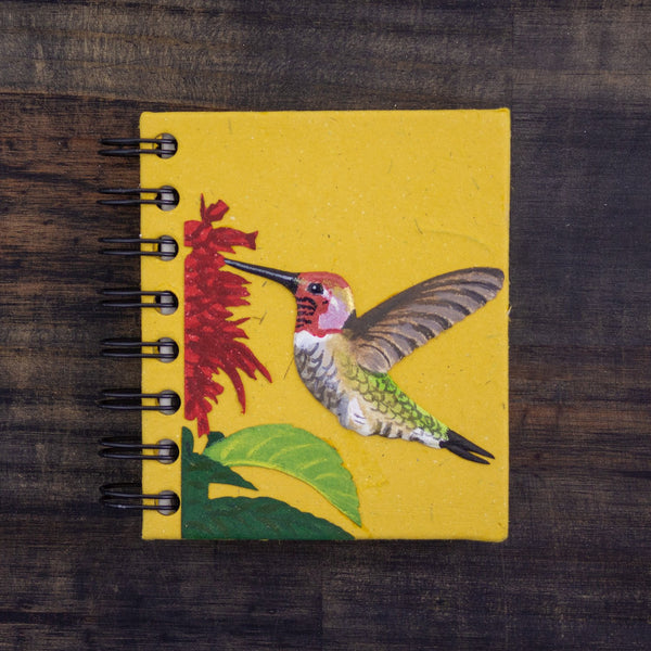 Small Notebook w/Hummingbird