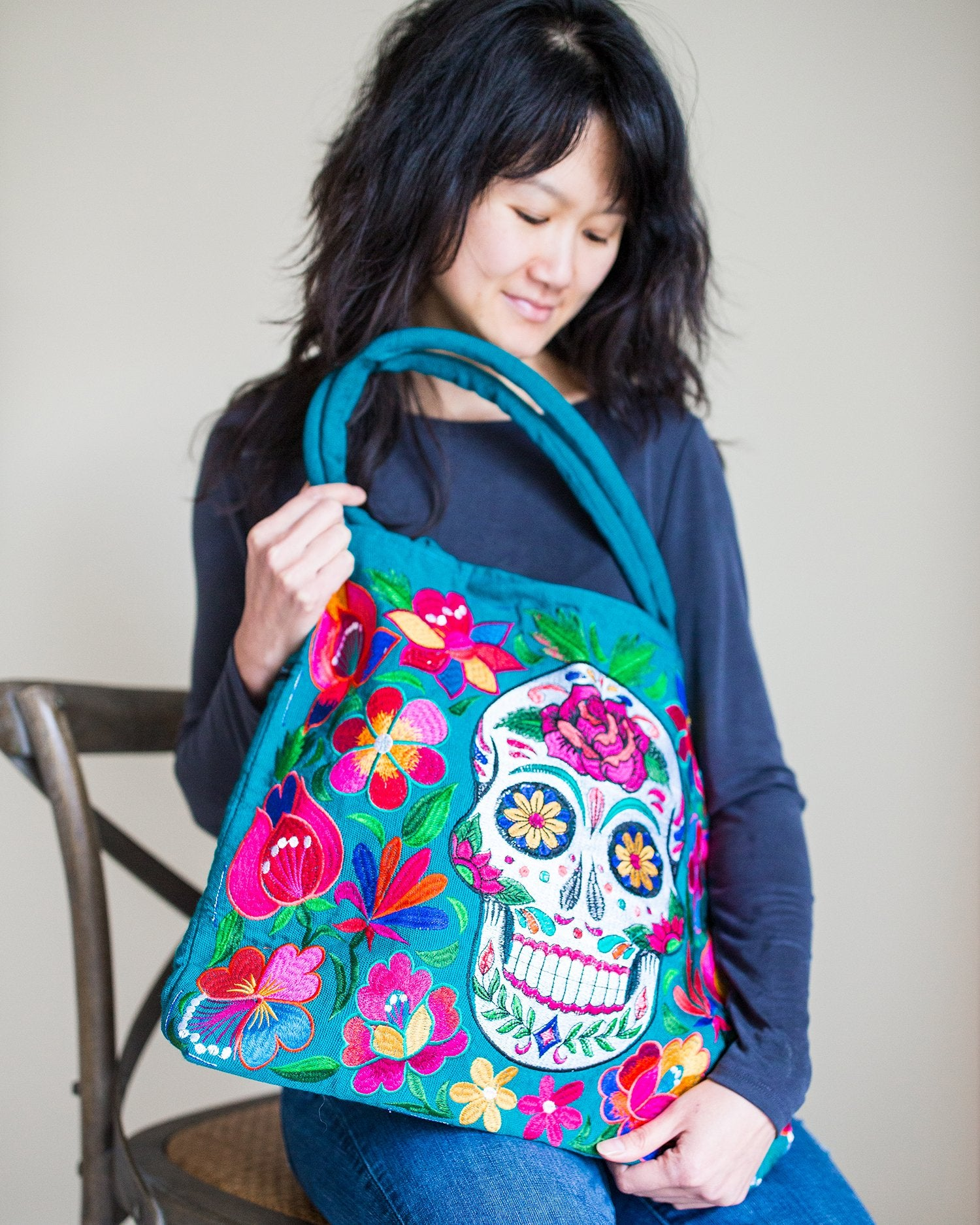 Sugar Skull Skeleton Purse
