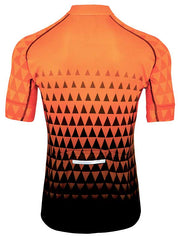 Baroudeur Mens Short Sleeve Orange Cycling Jersey.
