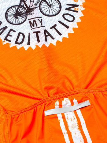 Miles are my Meditation Men's Jersey (Orange)