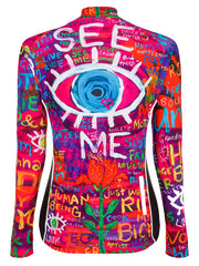 See Me Women's Long Sleeve Cycling Jersey