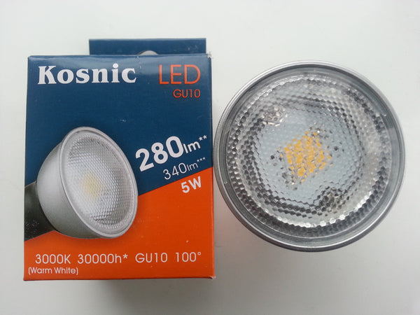 Kosnic GU10 LED Bulbs - Available in 3.5w to 6w (Warm White, Day Light or Cool White) - Non Dimmable - Electrobright Ltd