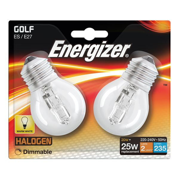 2 x S11950 ENERGIZER ECO E27 (ES) GOLF 20W(25W) DIMMABLE (1 Twin Pack) - Electrobright Ltd