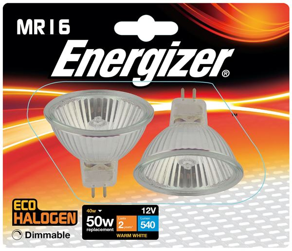 2 x S4857 ENERGIZER ECO MR16 40W(50W) DIMMABLE (1 Twin Pack) - Electrobright Ltd