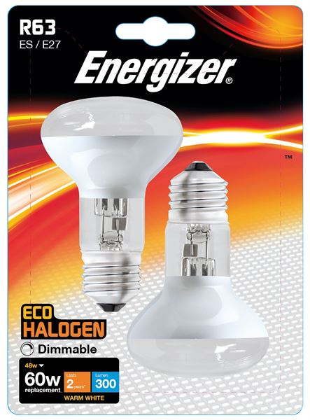 2 x S5190 ENERGIZER ECO E27 (ES) R63 48W(60W) DIMMABLE (1 Twin Pack) - Electrobright Ltd