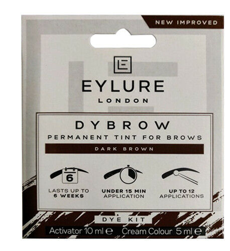 EYLURE DYBROW DARK BROWN PERMANENT TINT DYE KIT FOR BROWS - Electrobright Ltd