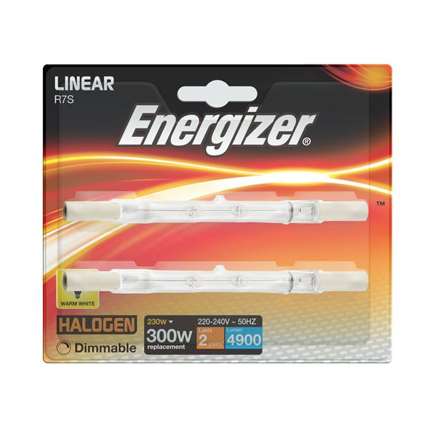 2 x S5162 ENERGIZER ECO LINEAR 230W(300W) DIMMABLE. (1 Twin Pack) - Electrobright Ltd
