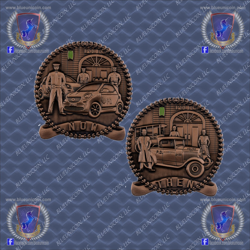 Now Available ... NOW and THEN PD Challenge Coin