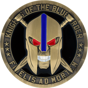New coins have arrived! Knights of the Blue Order Challenge coins.