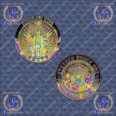 nypd king of the  north anodized plating challenge coin