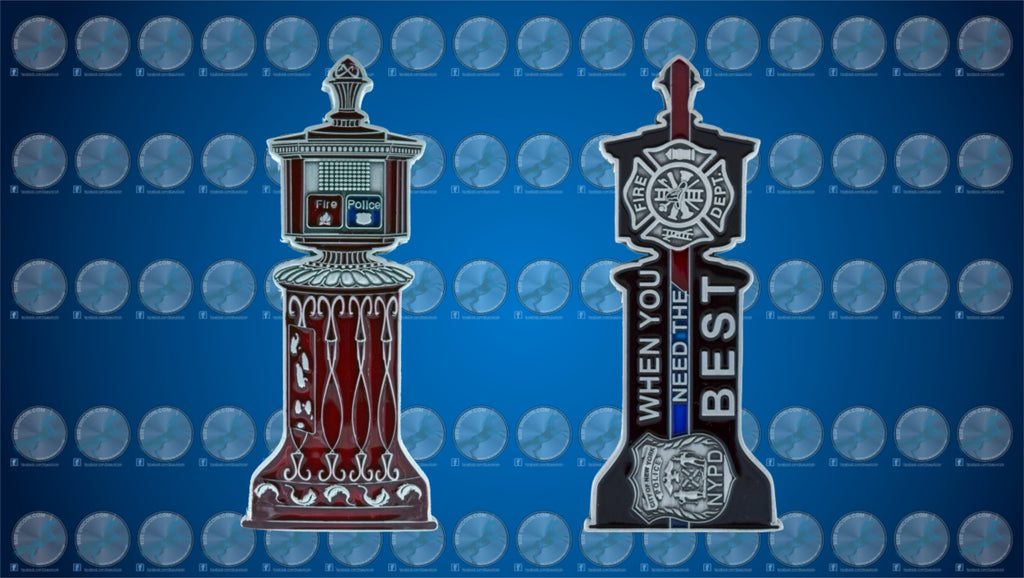 NYC Red Call Box Challenge Coin