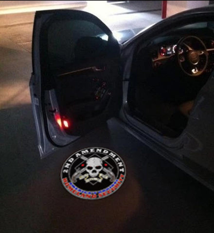 second amendment car door led projector