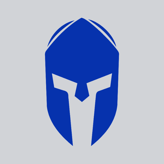 Blue Spartan Helmet Decal Blue Unicoin Llc