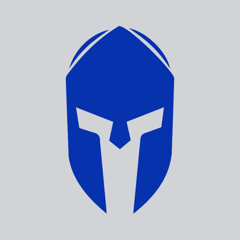 blue spartan helmet vinyl decal