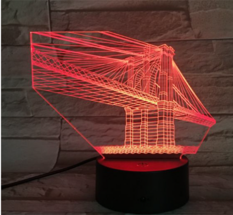 NYC Brooklyn Bridge 3d Led Night Light