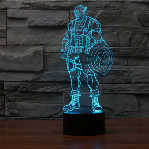 Captain America 3d Led Night Light