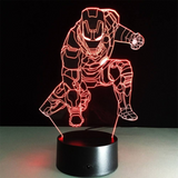 Iron Man sitting 3d Led Night Light