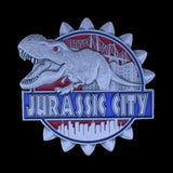 JURASSIC CITY NYPD CHALLENGE COIN  ANTIQUE SILVER FRONT