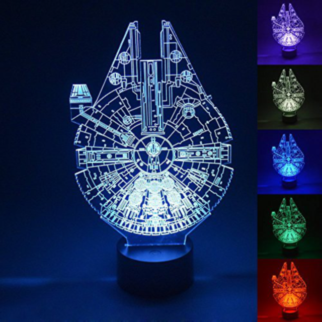 Millennium Falcon 3d night light
