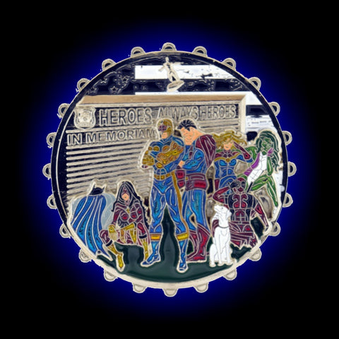 Sad Superheroes Custom Challenge Coin Front