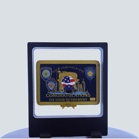"NYPD ""THE PILLOW"" RETIREMENT CHALLENGE COIN WITH FLOATING CASE"