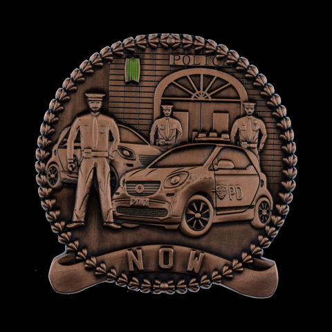 NOW and THEN PD Challenge Coin Front