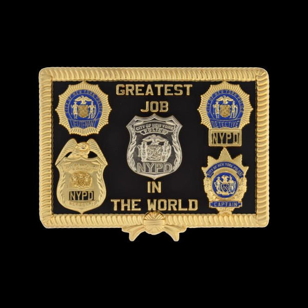 "NYPD RETIREMENT COIN ""THE PILLOW"" BACK"