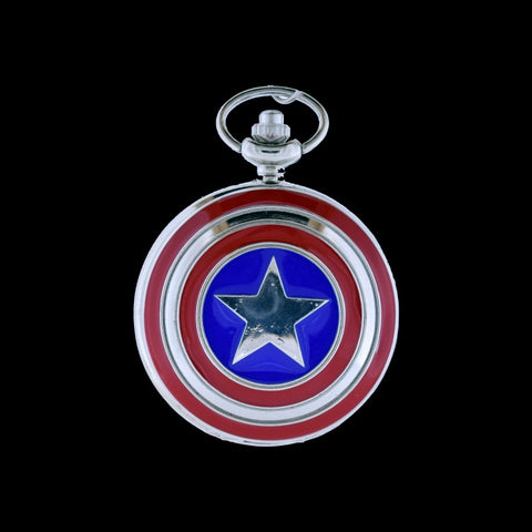 Captain America pocket watch front