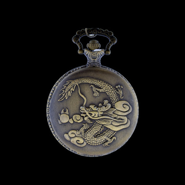 dragon brass pocket watch