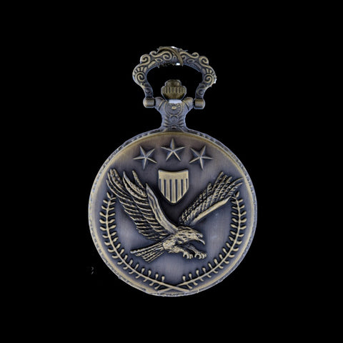 american eagle brass pocket watch