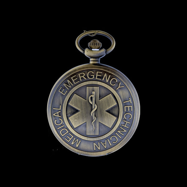 EMT brass pocket watch
