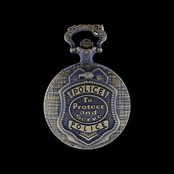 Police brass pocket watch