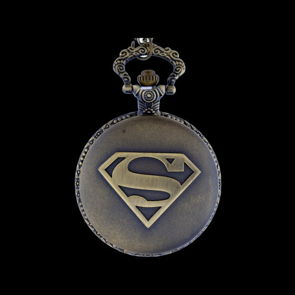 superman brass pocket watch