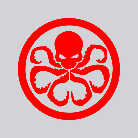 Red Hydra vinyl decal