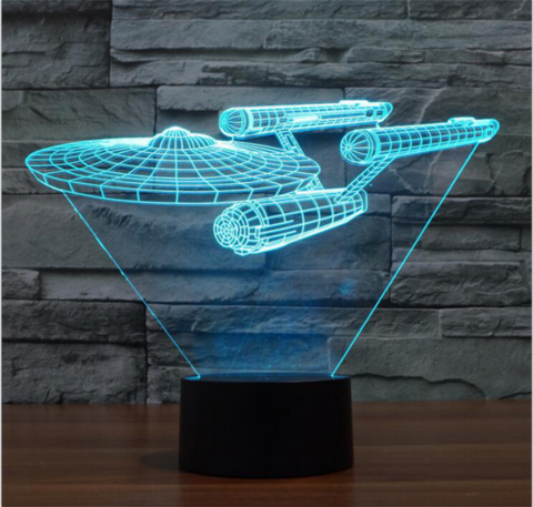 Star Trek Enterprise 3d Led Night Light