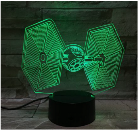 Star Wars Tie Fighter 3d Led Night Light