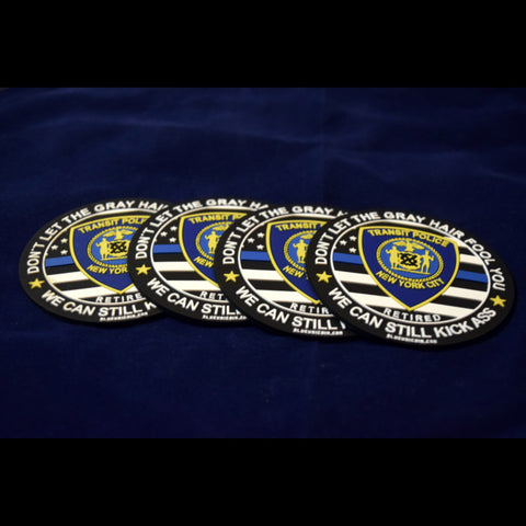 RETIRED NYC TRANSIT POLICE PVC COASTER