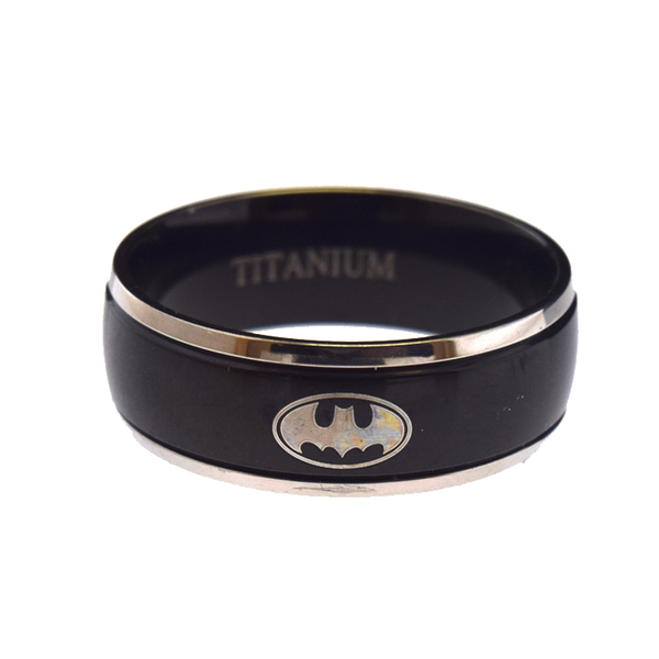 Titanium Batman Ring