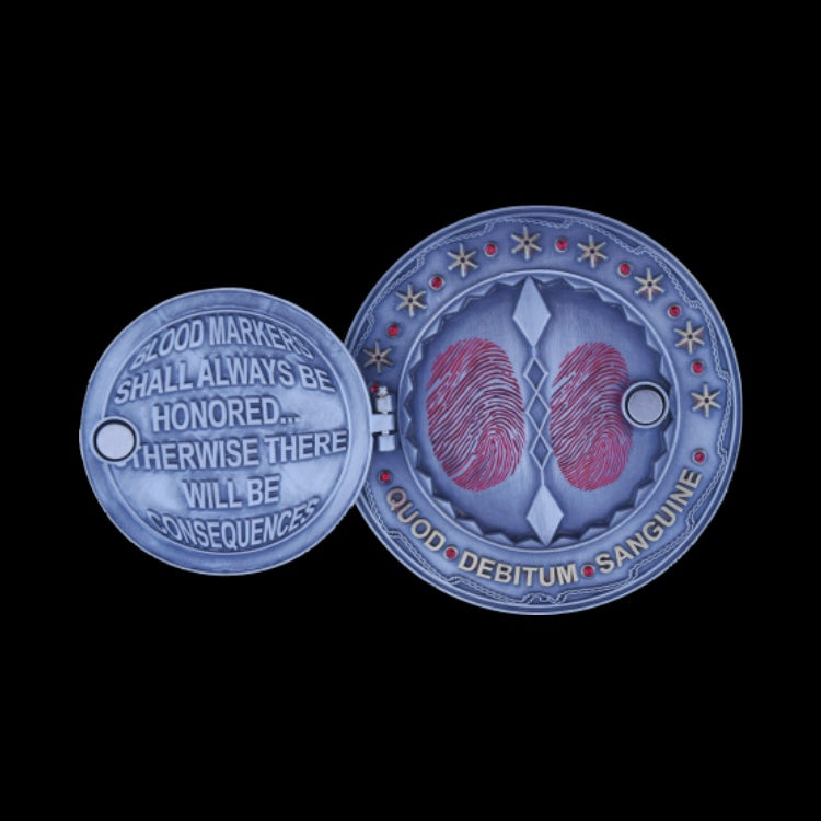 John Wick Blood Marker Challenge Coin Blue Unicoin Llc