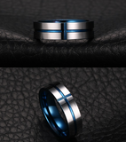 thin blue line cross ring
