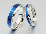 blue line engagement ring